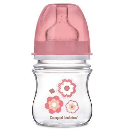 Бутылочка Canpol с широким горлышком антиколиковая EasyStart Newborn baby 120 мл 0м+ в ассортименте (4)