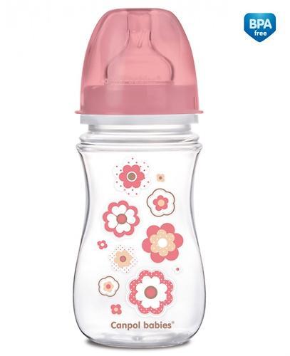 Бутылочка Canpol антиколиковая с широким горлышком EasyStart Newborn baby 240 мл 3м+ в ассортименте (5)