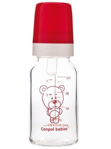 Бутылочка Canpol для кормления стеклянная 120 мл 3м+ в ассортименте (4)
