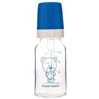 Бутылочка Canpol для кормления стеклянная 120 мл 3м+ в ассортименте - Minim