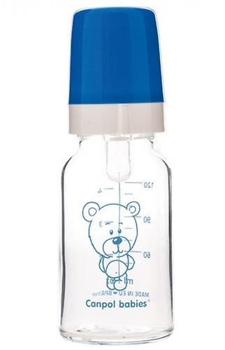 Бутылочка Canpol для кормления стеклянная 120 мл 3м+ в ассортименте (3)
