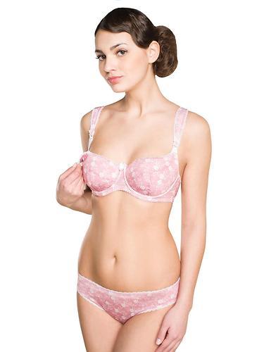 Бюстгальтер ФЭСТ для кормления 5435 розовый/белый (6)