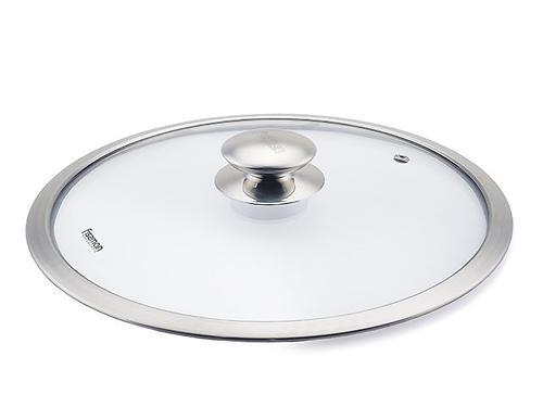 Стеклянная крышка PROFI 26 см со стальной ручкой Fissman 9943 (1)