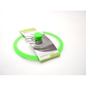Стеклянная крышка GOURMET 24 см с зеленым силиконовым ободком Fissman 9952 - Minim