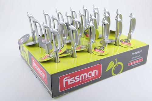 Овощечистка - нож для чистки кожуры P-формы LUMINICA (в промо-коробке) (цинковый сплав) Fissman 7007 (1)