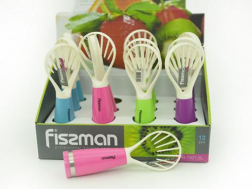 Резак для фруктов (слайсер для киви) 18 см (пластик) Fissman 7421 (1)