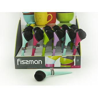 Щетка для мытья посуды 18x5 см (пластик) Fissman 7427 - Minim