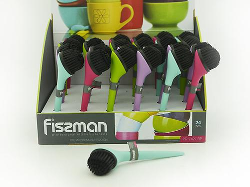 Щетка для мытья посуды 18x5 см (пластик) Fissman 7427 (1)