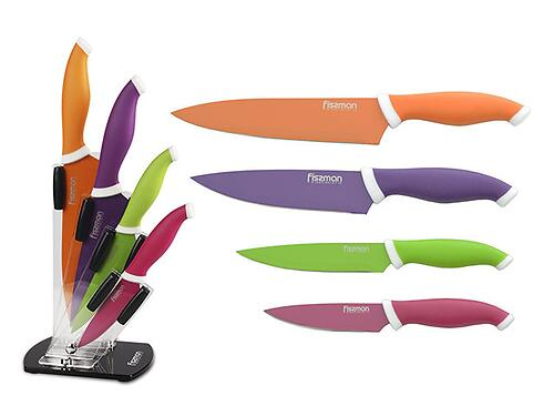 Набор ножей Fissman 5 пр. SAMBUCA на акриловой подставке (нерж. сталь) 2655 (1)
