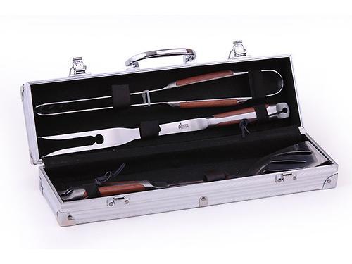 Набор инструментов для барбекю Fissman 4 пр. в чемодане (нерж. сталь) 1013 (1)