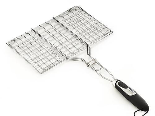 Решетка для приготовления стейка на гриле Fissman с пластиковой ручкой (хромированное покрытие) 1041 (1)