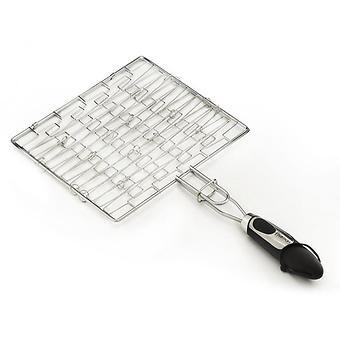 Решетка для гриля плоская Fissman с пластиковой ручкой (хромированное покрытие) 1042 - Minim