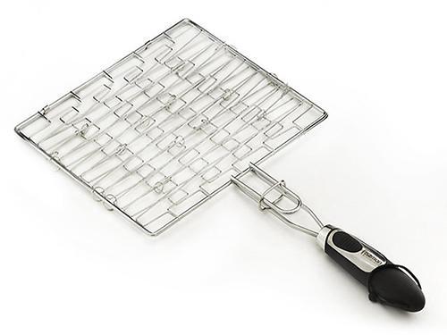 Решетка для гриля плоская Fissman с пластиковой ручкой (хромированное покрытие) 1042 (1)