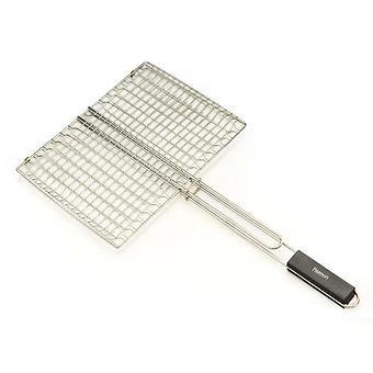 Решетка для приготовления стейка на гриле Fissman с деревянной ручкой (хромированное покрытие) 1044 - Minim