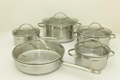 Набор посуды Fissman Gabriela 10 предметов со стеклянными крышками 5817 (1)