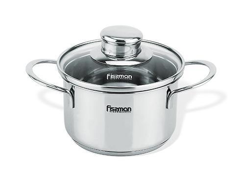 Кастрюля Fissman BAMBINO 0,8 л со стекл. крышкой (нерж. сталь) 5272 (1)