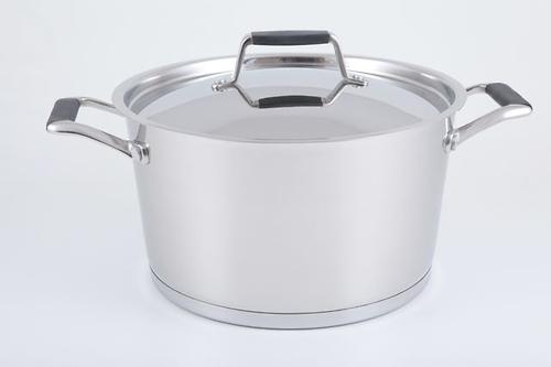 Кастрюля ELARA 24x13,5 см / 5,6 л со стальной крышкой (нерж. сталь) Fissman 5394 (1)