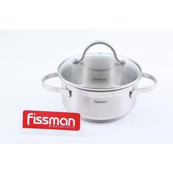 Кастрюля Fissman LUMINOSA 1,5 л со стеклянной крышкой (нерж. сталь) 5331 - Minim