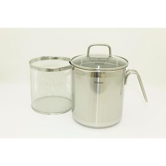Кастрюля для варки овощей Fissman ASPARAGUS 3,5л с вставкой-пароваркой (нерж. сталь) 5099 - Minim