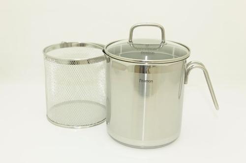 Кастрюля для варки овощей Fissman ASPARAGUS 3,5л с вставкой-пароваркой (нерж. сталь) 5099 (3)
