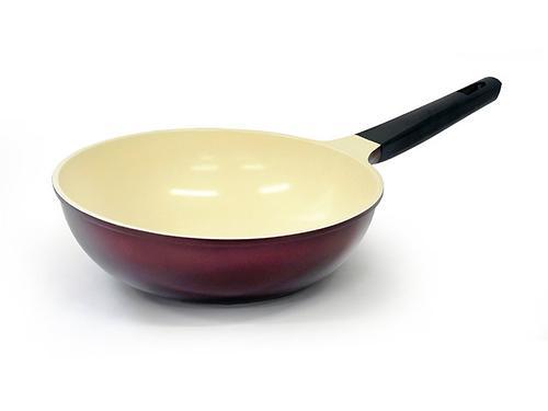 Сковорода-вок MERIDIAN 28 см (алюминий с керамическим антипригарным покрытием) Fissman 4678 (1)