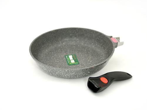 Сковорода для жарки Fissman LA GRANITE 28x5,8см со съемной ручкой, температурной меткой и индукционным дном (алюм. с антипригарным покрытием) 4627 (1)
