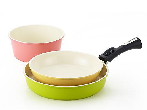 Набор посуды Fissman CLICK 4 пр. со съемной ручкой (алюм. с керам. антипригарным покрытием) 4630 (1)