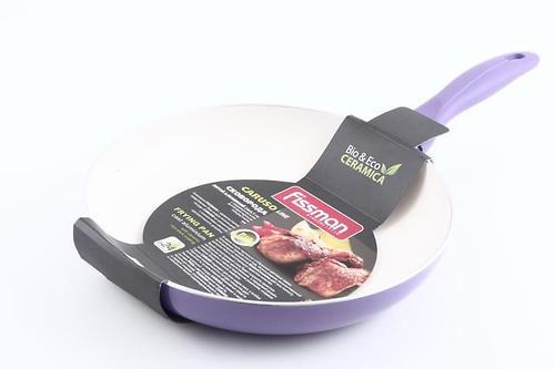 Сковорода для жарки CARUSO 24x4,5 см с индукционным дном (алюминий с керамическим антипригарным покрытием) Fissman 4786 (1)