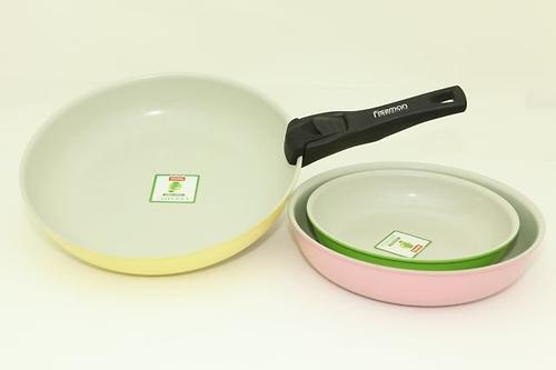 Набор посуды Fissman 4 пр. COMFORTO со съемной ручкой (алюм. с керам. антипригарным покрытием) 4860 (3)