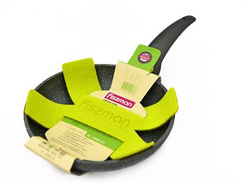 Сковорода для жарки Grey Stone 20x4,0 см с индукционным дном (алюминий с антипригарным покрытием) Fissman 4968 (1)