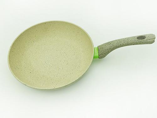 Сковорода для жарки White Stone 26x5,4 см с индукционным дном (алюминий с антипригарным покрытием) Fissman 4983 (1)