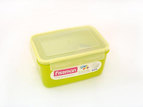 Прямоугольный контейнер для хранения продуктов 22x15x11 см / 2400 мл (пластик) Fissman 6745 (1)