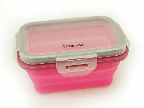 Складной прямоугольный контейнер для хранения продуктов 13x9x6 см / 300 мл (силикон, пластик) Fissman 7488 (3)