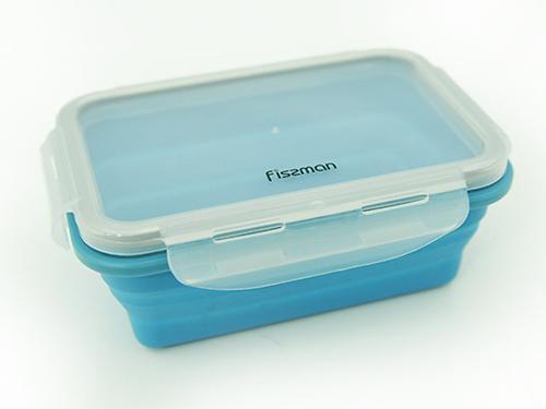 Складной прямоугольный контейнер для хранения продуктов 17x12x6 см / 500 мл (силикон, пластик) Fissman 7490 (3)