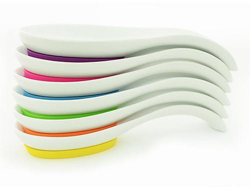 Подставка для поварской ложки 24 см на силиконовом основании (керамика) Fissman 7386 (1)