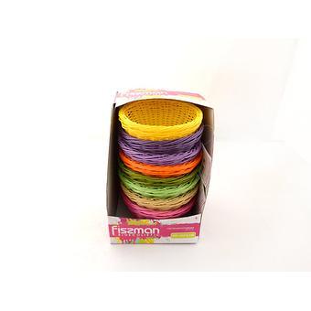 Плетеная корзинка круглая 19x10 см (пластик) Fissman 7674 - Minim
