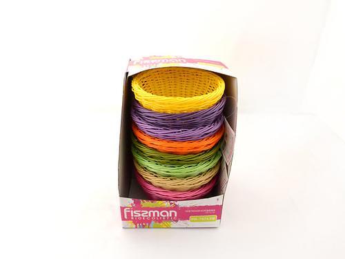 Плетеная корзинка круглая 19x10 см (пластик) Fissman 7674 (1)