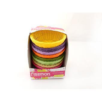 Плетеная корзинка круглая 21x8 см (пластик) Fissman 7675 - Minim