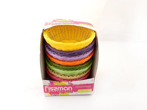 Плетеная корзинка круглая 21x8 см (пластик) Fissman 7675 (1)