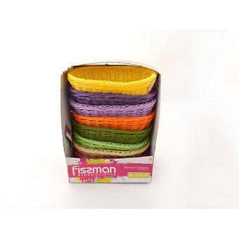 Плетеная корзинка овальная 23x12x8 см (пластик) Fissman 7677 - Minim