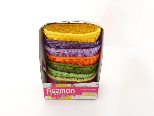 Плетеная корзинка овальная 23x12x8 см (пластик) Fissman 7677 (1)