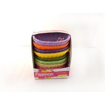 Плетеная корзинка овальная 24x17x9 см (пластик) Fissman 7678 - Minim