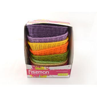 Плетеная корзинка прямоугольная 26x19x7 см (пластик) Fissman 7679 - Minim