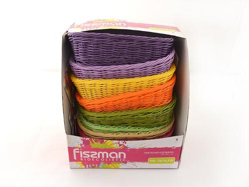 Плетеная корзинка прямоугольная 26x19x7 см (пластик) Fissman 7679 (1)