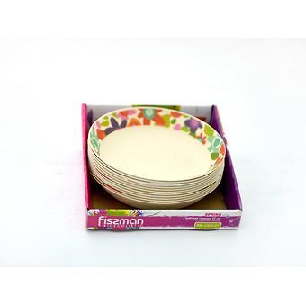 Глубокая тарелка SPRING 21 см из бамбукового волокна Fissman 7371 - Minim
