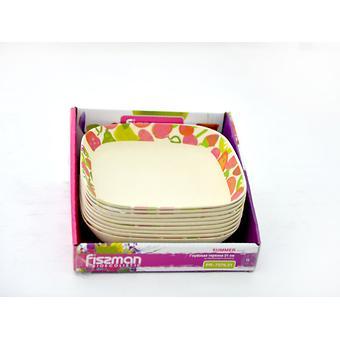 Глубокая тарелка SUMMER 21 см из бамбукового волокна Fissman 7376 - Minim