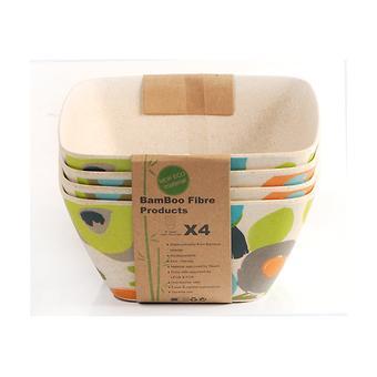Салатная миска AUTUMN 25 см / 3,65 л из бамбукового волокна Fissman 7383 - Minim
