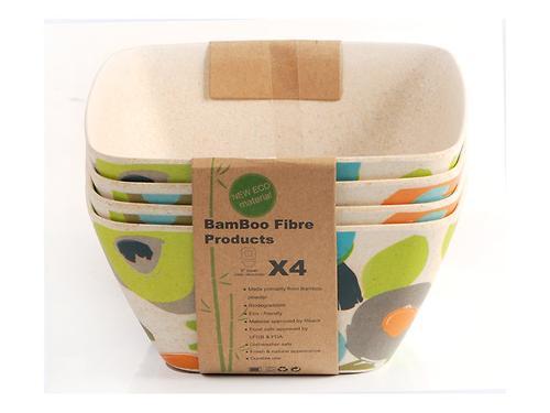 Салатная миска AUTUMN 25 см / 3,65 л из бамбукового волокна Fissman 7383 (1)