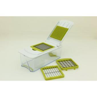 Овощерезка с контейнером Fissman 25x11x8.5 см с 3 сменными лезвиями (нерж. сталь в пластик. корпусе) 8642 - Minim