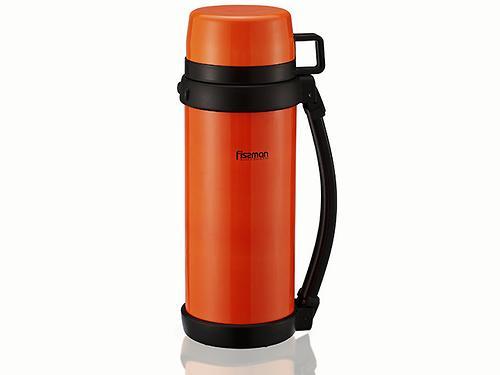 Термос Fissman 1200 мл Оранжевый (нерж. сталь) 7887 (1)